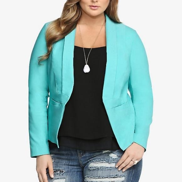 torrid Jackets & Blazers - New Gorgeous teal blazer (Plus size)